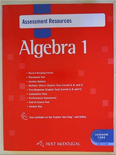 Amazon holt mcdougal algebra 1 common core assessment holt mcdougal algebra 1 common core assessment resources with answers 1st edition fandeluxe Image collections