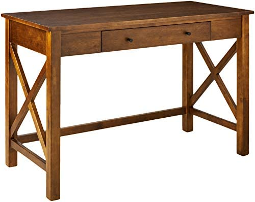 Ravenna Home Classic Two-Drawer Desk, 44 W, Walnut