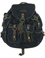 AM Landen Large Denim Backpack School Bag Travel Bag Avail. 2 Colors