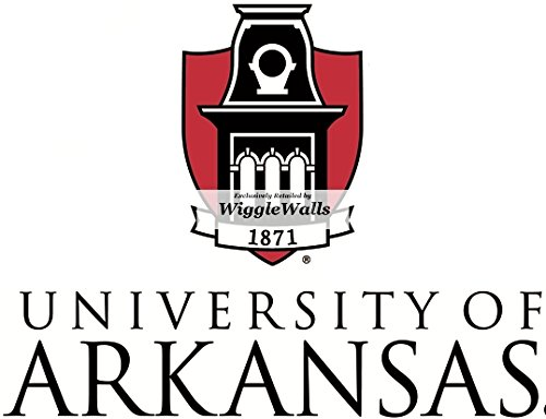 7 Inch University of Arkansas Logo Uark Razorbacks Hogs AR Hog Removable Wall Decal Sticker Art NCAA Home Room Decor 7 by 4.5 Inches