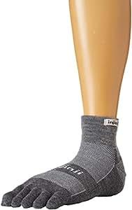 Injinji 2.0 Outdoor Midweight Mini Crew Nuwwol Socks Charcoal/Black Medium