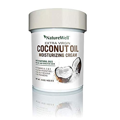 Nature Well Extra-Virgin Coconut Oil Moisturizing Cream 2 Packs (16 oz.) effective moisturizer with a potent blend (Potent Blend)
