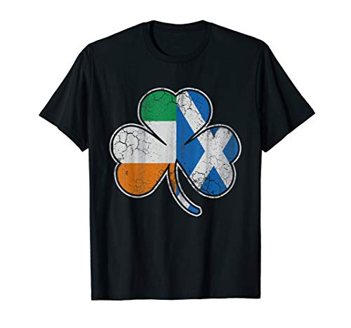Scotch Irish Shamrock T-Shirt Scottish St Patricks Day