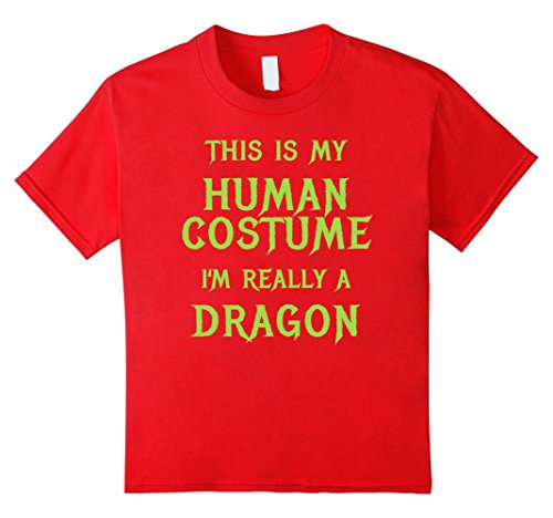 Kids Dragon Halloween Costume Shirt Easy Funny for Boys Men Women 10 (Funny College Halloween Costumes Ideas Men)