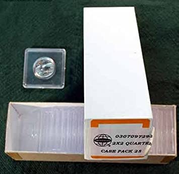 10 Coin Snaplock 2x2 Clear Plastic Holders For Quarter Coin Display By Whitman