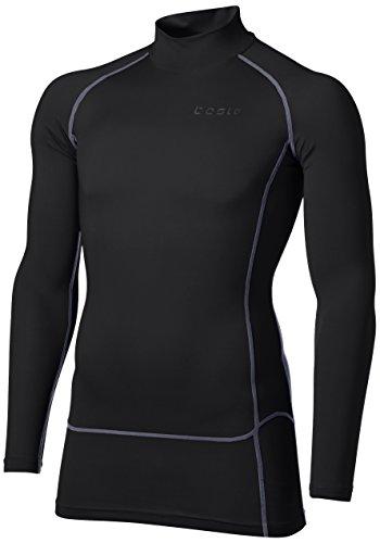 慣性入札観察する[テスラ]高機能メッシュ 長袖 ハイネック スポーツシャツ [UVカット?吸汗速乾] コンプレッションウェア メンズ