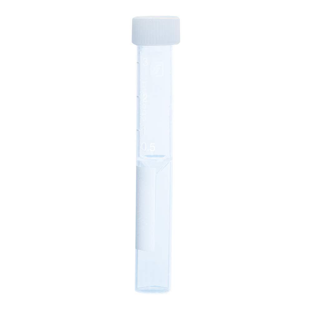 Sarstedt 3.5ml Screw Cap Tube with Flat False Bottom and Cap Assembled, with Print, 92x13, PP