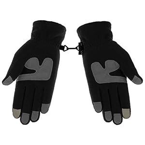 Knolee Men&Women Winter Glove Outdoor Warm Fleece Gloves With TouchScreen,Black L