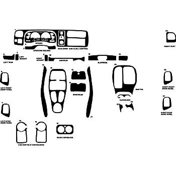 Rvinyl Rdash Dash Kit Decal Trim for Dodge Challenger 2008-2014 Black Carbon Fiber 3D