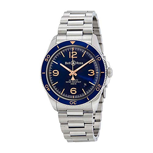 Ross Automatic Watch Bell - Bell & Ross Vintage BR V2-92 AERONAVALE Blue Dial Automatic Mens Watch