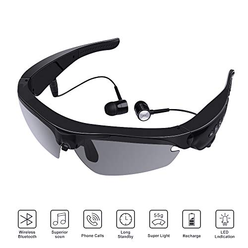 Amener Wireless Bluetooth Sunglasses Headset Headphones Stereo Sunglasses with Polarized Lens for Cell Phone