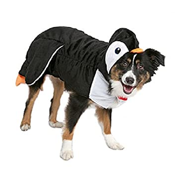 Pet Luv Halloween Dog Cat Penguin Black/White/Orange Costume Hoodie Pet Apparel LARGE  sc 1 st  Amazon UK & Pet Luv Halloween Dog Cat Penguin Black/White/Orange Costume Hoodie ...