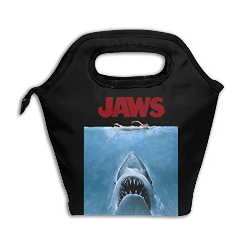 Large Capacity Lunch Bag Cooler Bag Quints Shark Fishing Jaws Waterproof Thermal Lunch Bag With Zipper (Jaws Box Lunch)