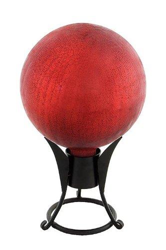 (Achla Designs 12-Inch Crackle Gazing Globe Ball, Red)