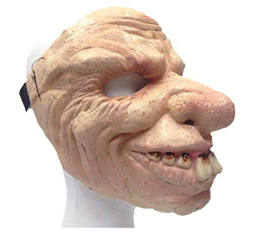 Uncle Buck Adult Latex Mask Goofy Bucked Teeth Creepy Man Halloween Costume (Uncle Creepy Mask)