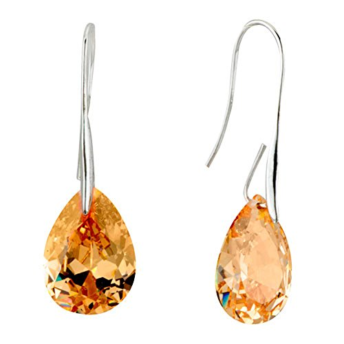 CharmSStory Teardrop Synthetic Crystal Earrings