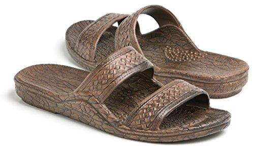 Pali Hawaii Unisex Adult Classic Jandal Sandal (Dark Brown, 12)