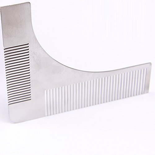 Beard Shaper Comb for Shaving Symmetric Stainless Steel Beards Shaping Tool Styling Template Facial Hair Grooming Kit Guide for Men - To Mustaches Guide