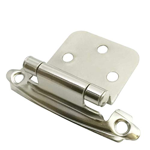 Hinges Cabinet Chrome (Smbbit Traditional Cabinet Hinge Variable Overlay 10 Pack Bright Nickel)
