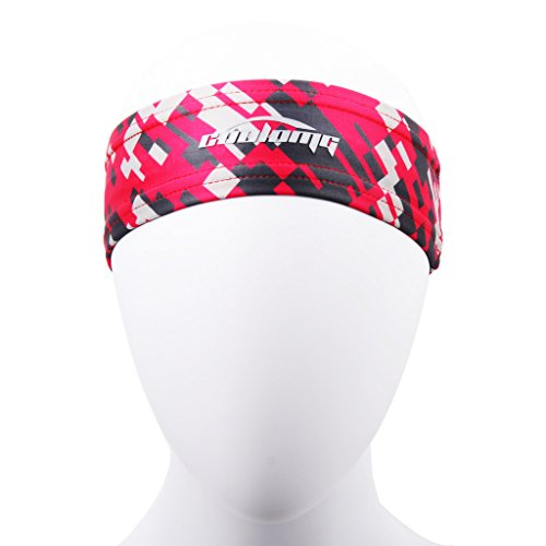 COOLOMG Moisture Stretchy Non slip Headband