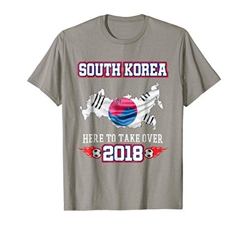 South Korea 2018 Soccer T-Shirt Korean Flag Shirt Fan Gift (Warrior Tiger Watch)