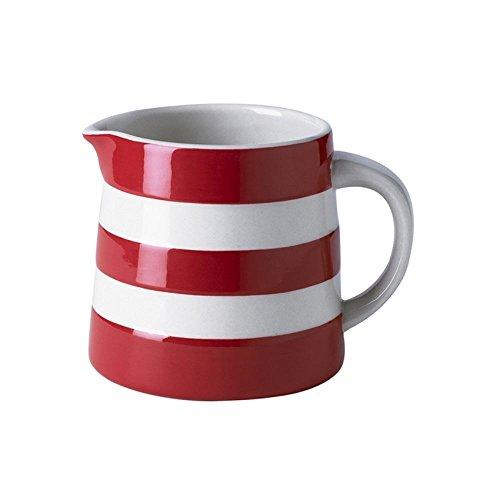 - Cornishware Red and White Stripe Stoneware Dreadnought Jug 10oz
