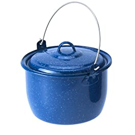 GSI Outdoors 3 qt. Convex Kettle for Soup, Stew, or Water Pot for Camping, Blue