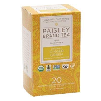 UPC 894058000590, Paisley Tea Co. Organic Ginger Green 24 Bag -Pack of 6
