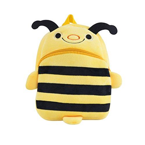 (Kids Tablet Back-Bag for Children Toddler Preschool Backpack, Baby Kids Girls Boys Travel Lunch Bags, Cute Little Bee Design for 2-4 Years Old ... )