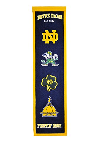 NCAA Notre Dame Fighting Irish Heritage Banner Notre Dame Wall Hanging