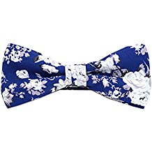 Selini Men's Floral Patterned 100% Cotton Banded Formal Bow Tie
