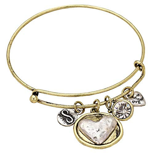 Rosemarie Collections Women's Infinity Heart Charm Bracelet