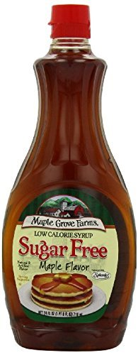 Maple Grove Farms Vermont Sugar Free Syrup, 24 Ounce [Pack of 3] by Maple Grove