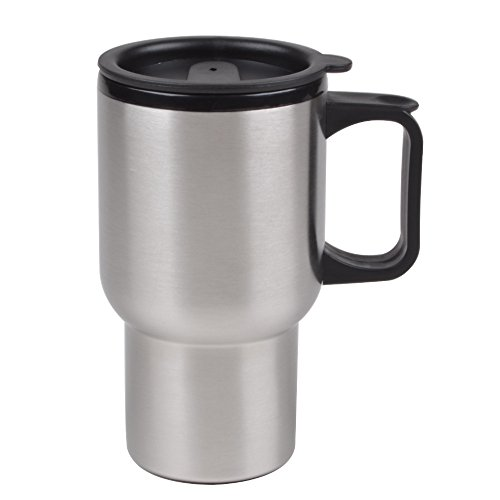 Liquid Logic Driver Mug (Stainless Steel Outer) with PP Liner and Slider Lid Closure, 15 oz, Brushed -