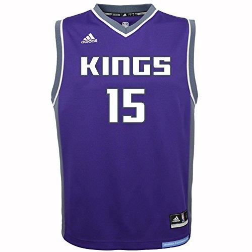 NBA Youth 8-20 Sacramento Kings Cousins Replica Road Jersey-Purple-M(10-12)