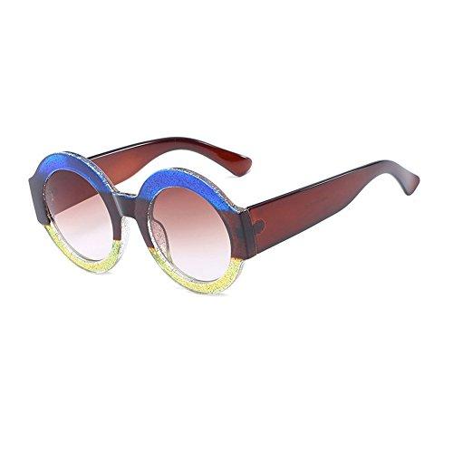 C1 de gafas CJ9006 plástico TL gafas CJ9006 sol de sol Gafas de Sunglasses de Moda Color marco circular de hombre de C7 grande UV400 mujer sol UgUZSqr