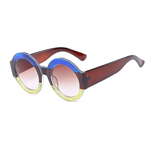 de de C7 mujer Color de C1 hombre Sunglasses UV400 gafas grande circular Moda sol marco sol sol de CJ9006 plástico TL gafas de Gafas de CJ9006 q4wX70g7