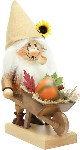 Smoker - Gnome with Wheelbarrow - 32,5 cm / 12.8 inch by Christian Ulbricht