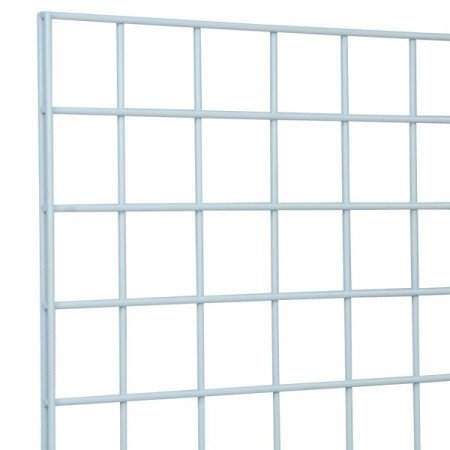 Only Garment Racks #1900W (Box of 3) Grid Panel for Retail Display - Perfect Metal Grid for Any Retail Display, 2'x 6', 3 Grids Per Carton (White Finish)