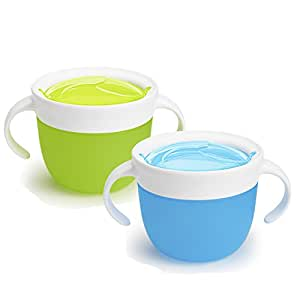 Munchkin 2 piezas Snack Catcher azul//verde