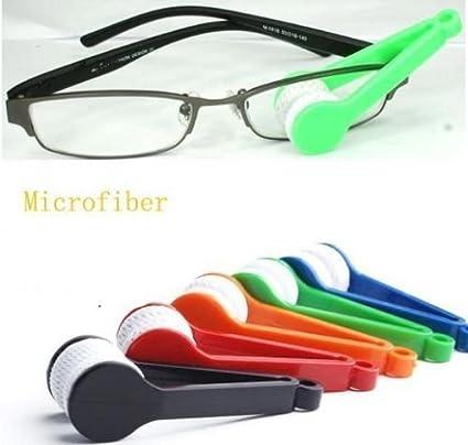 M S (Set of 2) Mini Glasses Sunglasses Eyeglass Microfiber Spectacles Cleaner spec Cleaner Brush Cleaning Tool Specs