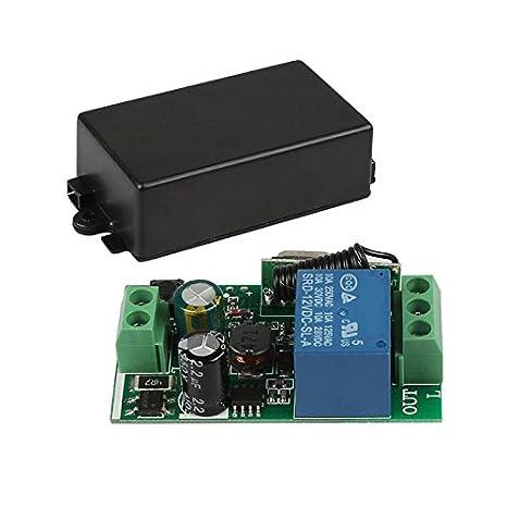 24372cfb6e1 REFURBISHHOUSE Universal 433 MHz AC 220V 1 canal de interruptor de control  remoto Mini modulo de receptor de rele inalambrico para 433 MHz RF  transmisor de ...