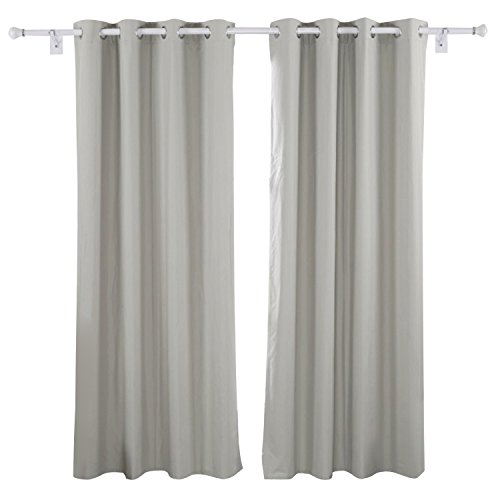 Deconovo Heavy Microfiber Grommet Top Blackout Curtains with - Thermal Back Curtains