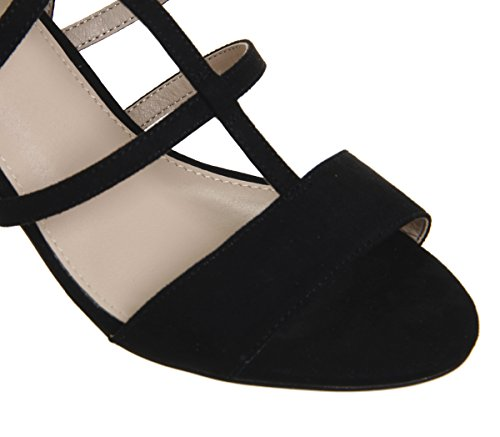 Monarch Office Heels Black Block Caged R1qrOdwR