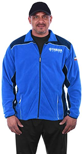 JH DESIGN GROUP Men's Yamaha Racing 2-Tone Blue Zip for sale  Delivered anywhere in USA