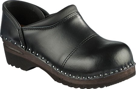 Picasso Black Toe Troentorp Båstad Women's Steel Leather Clogs 0SqxzIPwx