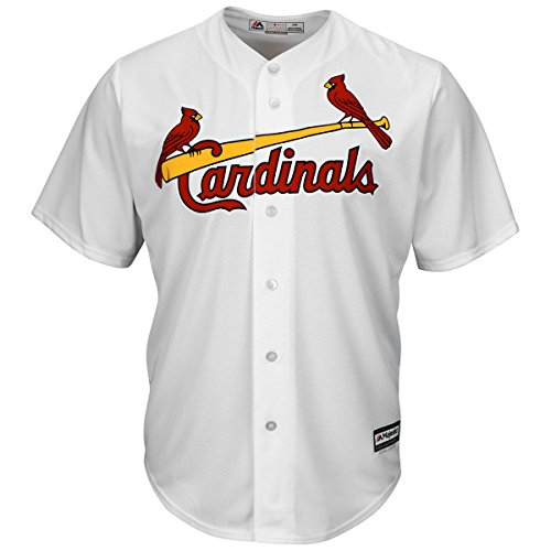 St. Louis Cardinals Youth Cool Base Home Team Jersey White (Medium) (Mlb Baseball White Jersey)
