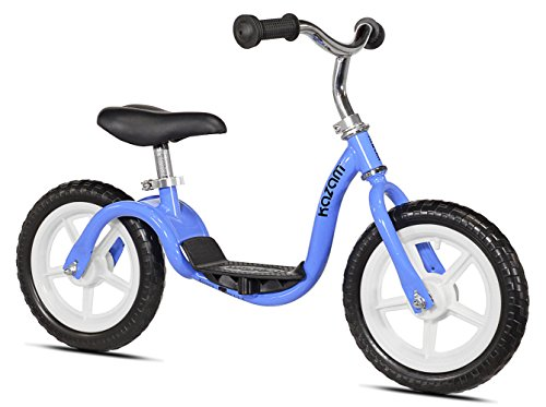 KaZAM v2e No Pedal Balance Bike, 12-Inch, Blue Balance Training Bike