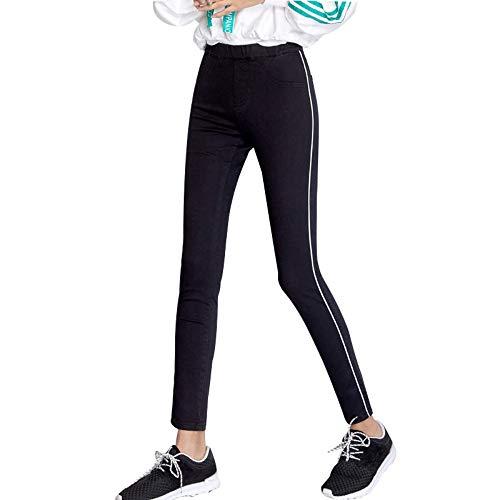Élastique L Haute Femmes 6xl Lambrissé Rlwfjxh Jeans Plus Crayon Rayure Taille La Côté Femme Automne Rue Complète Maigre Xxl Mid dxCBQreWEo