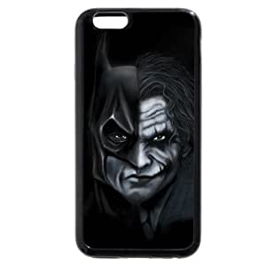 UniqueBox - Customized Personalized Black Soft Rubber(TPU) iPhone 6 4.7 Case, The Joker, Batman Logo, Batman iPhone 6 case, Only fit iPhone 6(4.7 Inch)